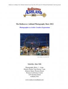 The Rediscover Ashland Photography Show